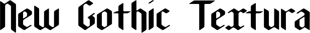 New Gothic Textura Font