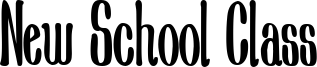 New School Class Font