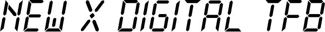 New X Digital TFB Font