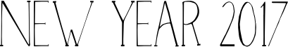 New Year 2017 Font