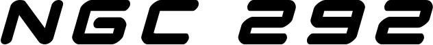 NGC 292 Font
