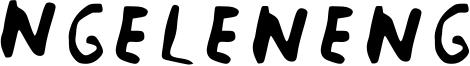 Ngeleneng Font