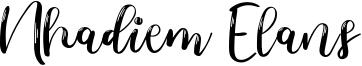 Nhadiem Elans Font