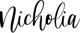 Nicholia Font