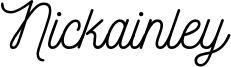 Nickainley Font