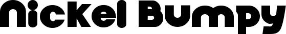Nickel Bumpy Font