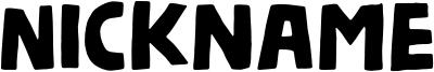 Nickname Font