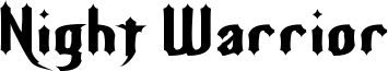 Night Warrior Font