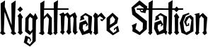 Nightmare Station Font