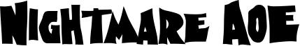 Nightmare AOE Font
