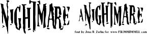 Nightmare 5 Font
