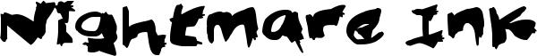 Nightmare Ink Font