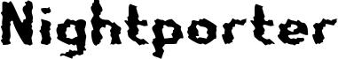 Nightporter Font