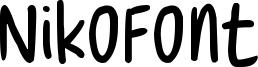 NikoFont Font