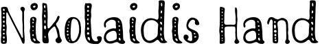 Nikolaidis Hand Font