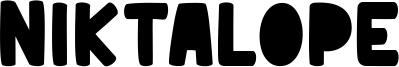 Niktalope Font