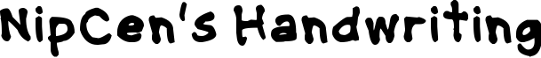 NipCens Handwriting Bold.ttf