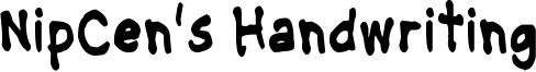 NipCens Handwriting CondBd.ttf