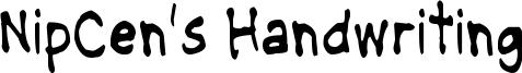 NipCens Handwriting Condensed.ttf