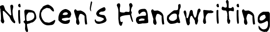 NipCens Handwriting Light.ttf