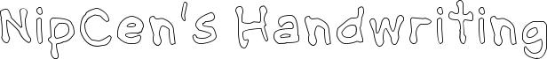 NipCens Handwriting Outline.ttf