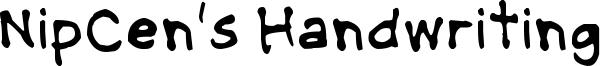 NipCen's Handwriting Font