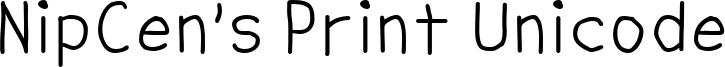 NipCen's Print Unicode Font