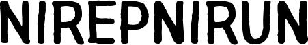 Nirepnirun Font
