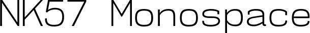 NK57 Monospace Font