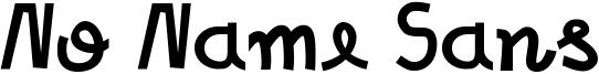 No Name Sans Font
