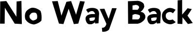 No Way Back Font