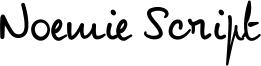 Noemie Script Font