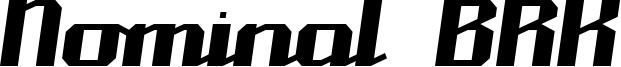 Nominal BRK Font