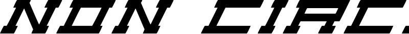 Non Circular Font