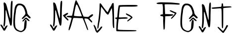 No Name Font Font
