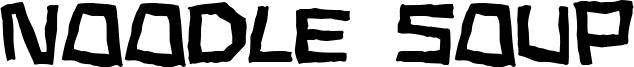 Noodle Soup Font