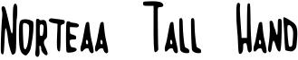 Norteaa Tall Hand Font
