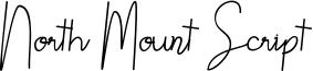 North Mount Script Font