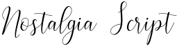 Nostalgia Script Font