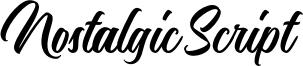 Nostalgic Script Font