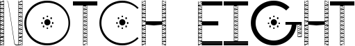 Notch Eight Font