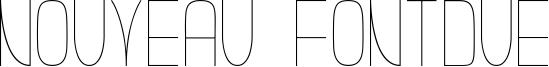 Nouveau Fontdue Font