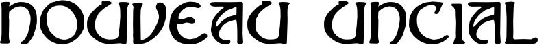 Nouveau Uncial Caps Font