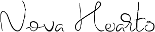 Nova Hearts Font