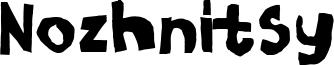 Nozhnitsy Font