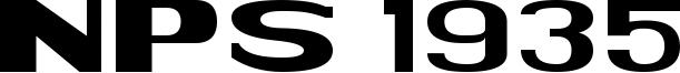 NPS 1935 Font