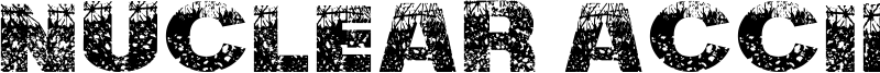 Nuclear Accident Font