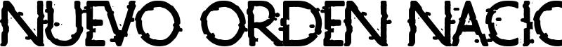 Nuevo Orden Nacional Font