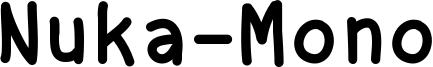 Nuka-Mono Font