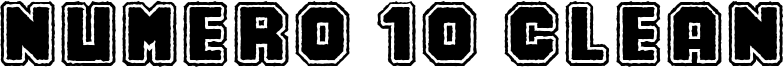Numero 10 Clean Font